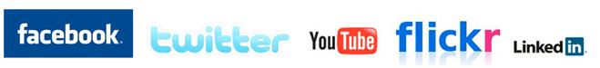 logotyper till sociala medier